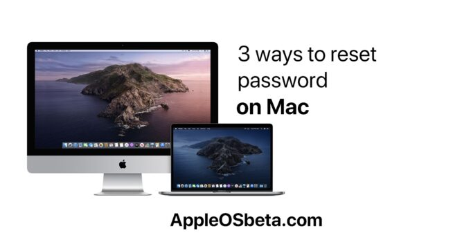 3 ways to reset password on Mac