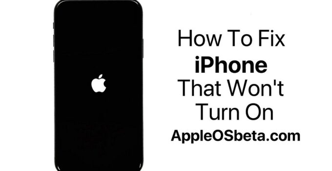 iPhone Won't Turn On, This Must Be Done