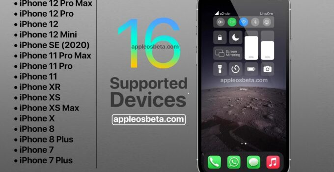 iOS 16 Supported Devices