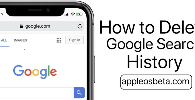 How to Delete Google Search History on iPhone